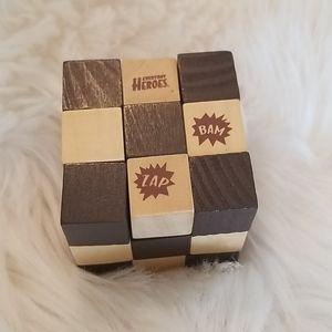 New wooden superhero rubix cube